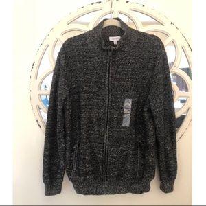 NWT Men's Calvin Klein Zip Up Sweater!